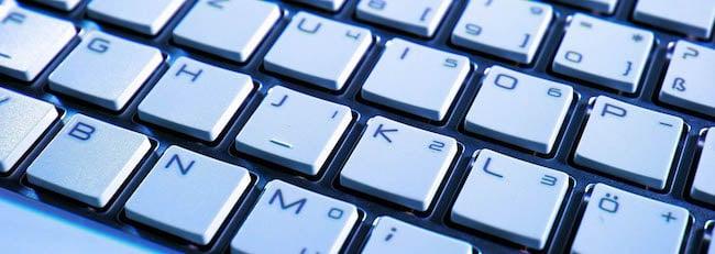 white keyboard